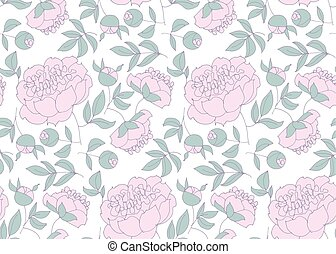 elegant floral seamless pattern for wrapping paper, fabric,...
