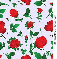 Elegant floral seamless pattern wit
