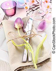 Elegant Floral Table Setting