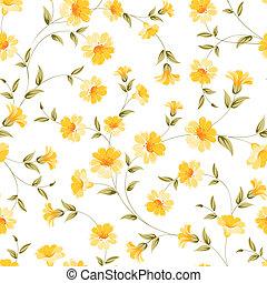 Elegant flowers fabric. - Elegant flowers fabric, seampless...