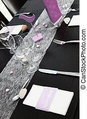 Elegant formal table setting