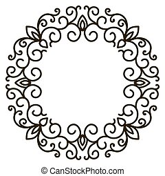 Elegant frame banner, floral elements. Vector illustration.