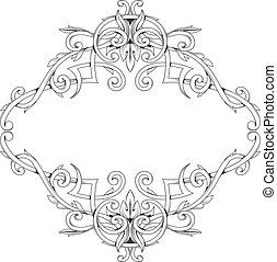Elegant frame in baroque style - Baroque style frame...
