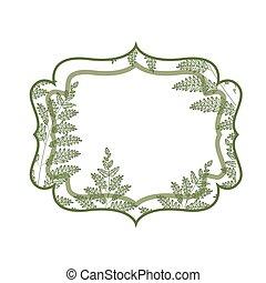 elegant frame isolated icon