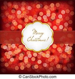 elegant, frame, kerstmis, vrolijk, ouderwetse