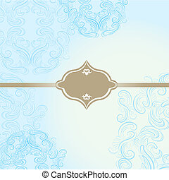 elegant frame on beautiful damask b