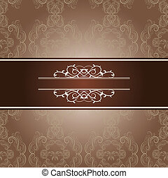 elegant frame on beautiful damask background