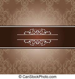 elegant frame on beautiful damask background