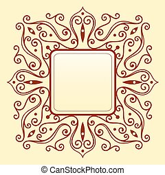 Elegant frame ornament
