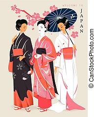 elegant geishas poster