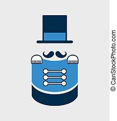 elegant gentleman symbol