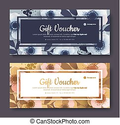 Elegant gift voucher, coupon template. Template for the...