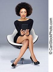 Elegant glamorous African American woman