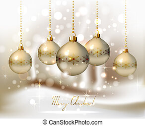 Christmas background - elegant glimmered Christmas...