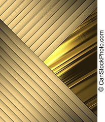 Elegant gold background with crossed ribbons