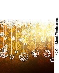 Elegant Gold Christmas Background. EPS 8