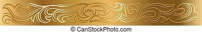 Elegant gold floral baroque victorian pattern ornament decoration design element.