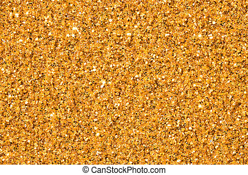 Elegant gold glitter sparkle confetti background or party invite for happy birthday, glitzy golden Christmas texture.