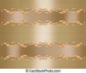 elegant, gold, hochzeitskarten