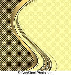 Elegant golden and black background
