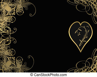 elegant golden arabesque
