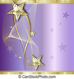 Elegant Golden Background with star