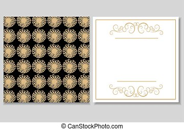 Golden Black invitation
