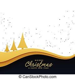 elegant golden christmas tree beautiful background