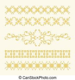 Elegant Golden Decorations Set