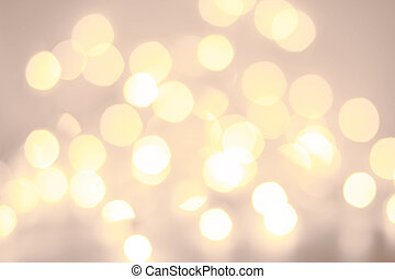 Elegant golden  Defocused  Christmas background with snowflakes,