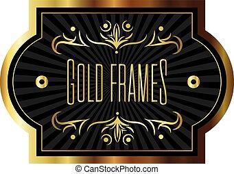 elegant golden frame with lettering