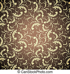 elegant golden seamless pattern
