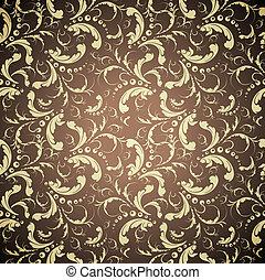 elegant golden seamless pattern