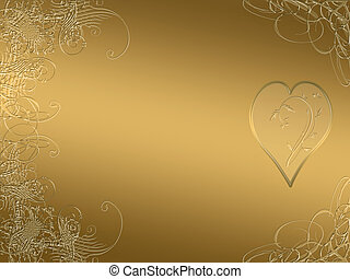 elegant, goldenes, arabeske