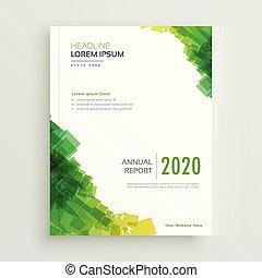 elegant green abstract brochure design