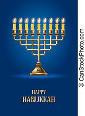 Happy Hanukkah - Elegant greeting card for Happy Hanukkah, ...