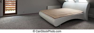 Elegant grey bedroom