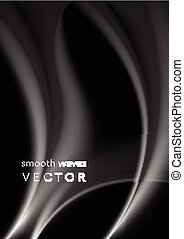 Elegant grey wavy smoke abstraction