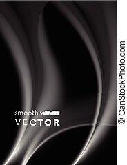 Elegant grey wavy smoke abstraction