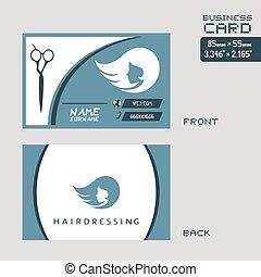 elegant hairdressing visit card