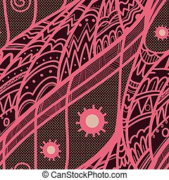 Elegant hand-drawn doodle zentangle vector floral background. Seamless pattern can be used in web design, textile industry, wrapping paper. Endless texture.