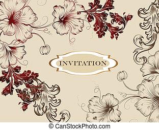 Elegant hand drawn invitation card