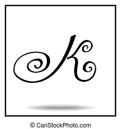 Elegant handmade alphabet