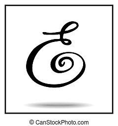 Elegant handmade alphabet - Elegant handmade font. Black and...