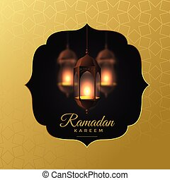 elegant hanging lanterns ramadan kareem background
