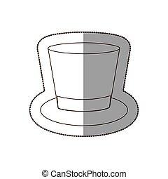 elegant hat of suit icon