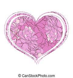 Elegant heart of flowers
