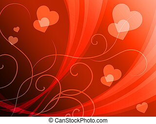 Elegant Hearts Background Shows Delicate Romantic Wallpaper...