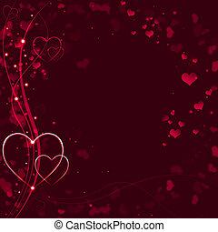 elegant, hintergrund, valentines