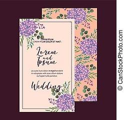 elegant hydrangea flowers decoration floral wedding card greeting